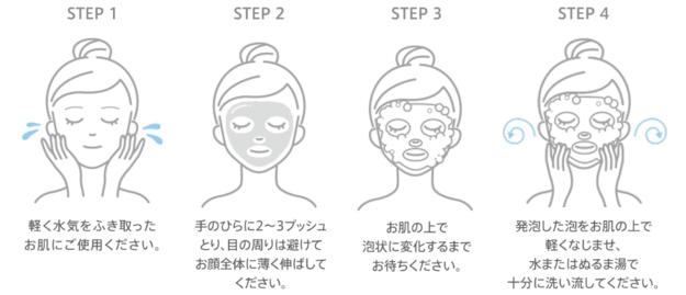 洗顔だけじゃない+パックもできる洗顔料 使い方