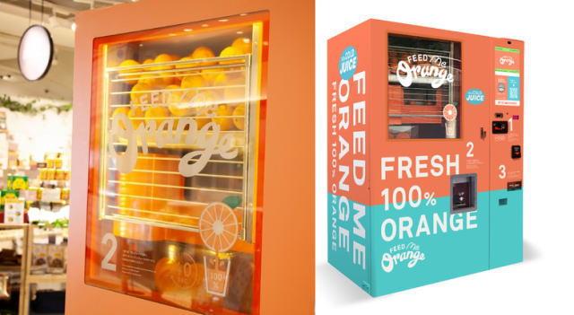 ついに日本上陸!生搾りオレンジジュース自販機、全国展開へ
